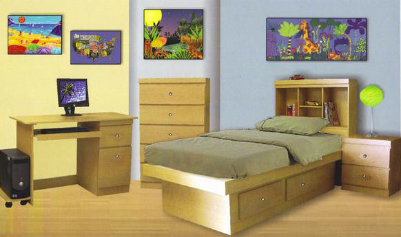 Home Bedroom Sets 5 Piece Milano Kid S Bedroom Set