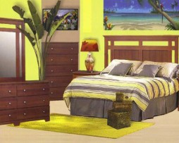 6 Piece Tropical Bedroom Set