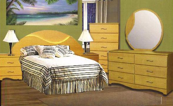 6 Piece Wave Bedroom Set