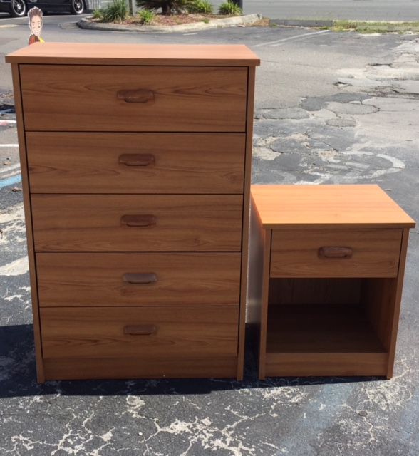 MATCHING 5-DRAWER CHEST WITH NIGHT STAND