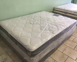 New queen plush mattress set only $299.