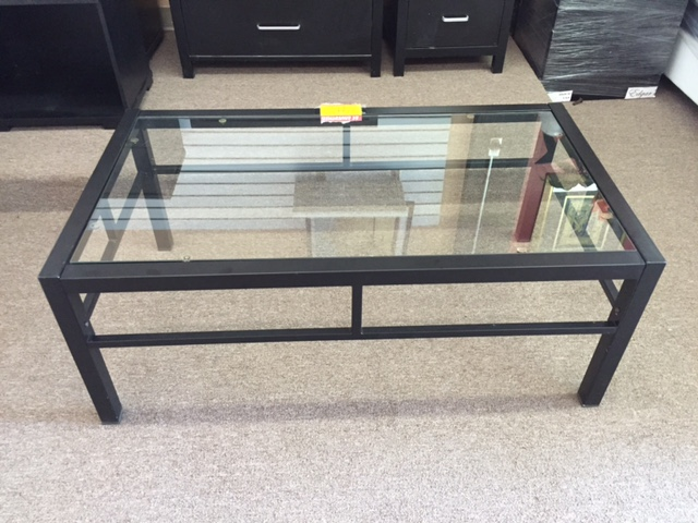 Gently used glass coffee table only $39